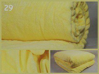 Deka z mikrovlákna ve žluté barvě