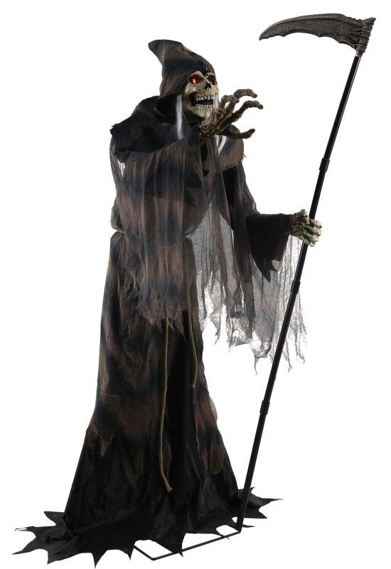 lunging reaper animated prop - Animated Halloween Figures