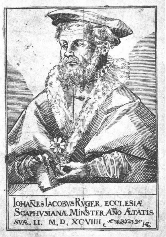 Rüeger, Johann Jakob (1548-1606), numismatic correspondence with Schellenberg