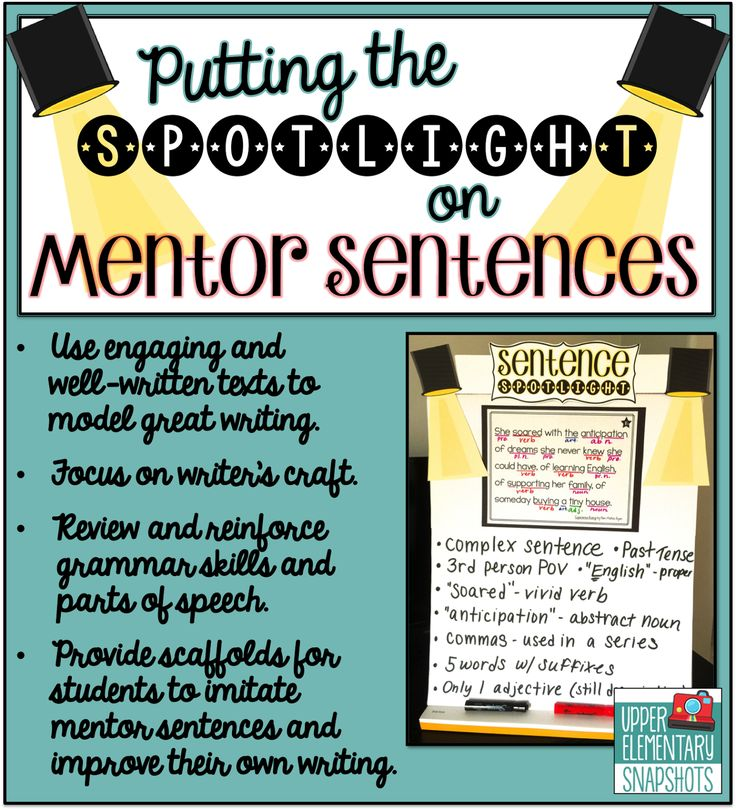 Putting the Spotlight on Mentor Sentences- this blog post includes a FREEBIE!