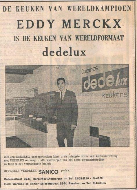 Eddy Merckx - Dedelux. Via @BahamontesMag / Delcampe.net.