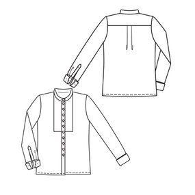 burda style magazine 01/2010 Mao Collar Blouse #121 – Sewing Patterns | BurdaStyle.com