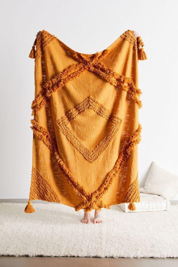 2019 Gift Guide For Her Boho Throw Blanket Orange Throws