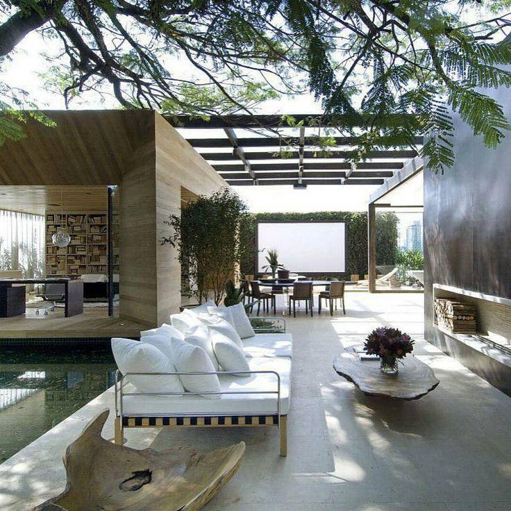Terasse, moderner Garten, Sitzecke, Pflanze