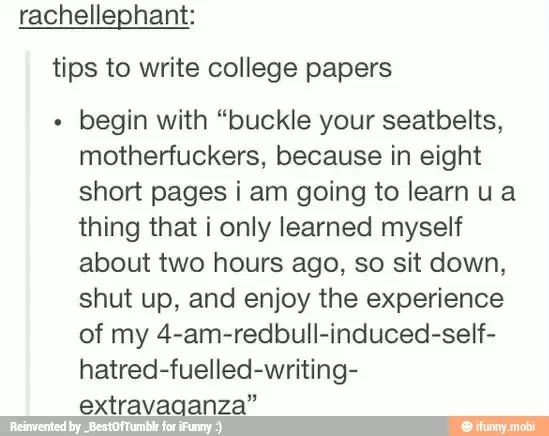 how to write a college essay tumblr
