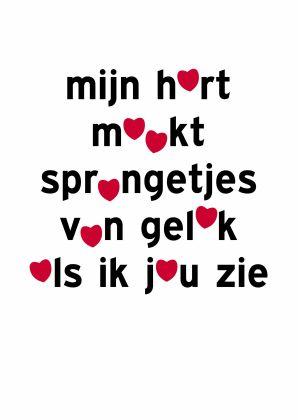 ♥Kaartje2go - Valentijnskaarten - valentijn sprongetjes van geluk