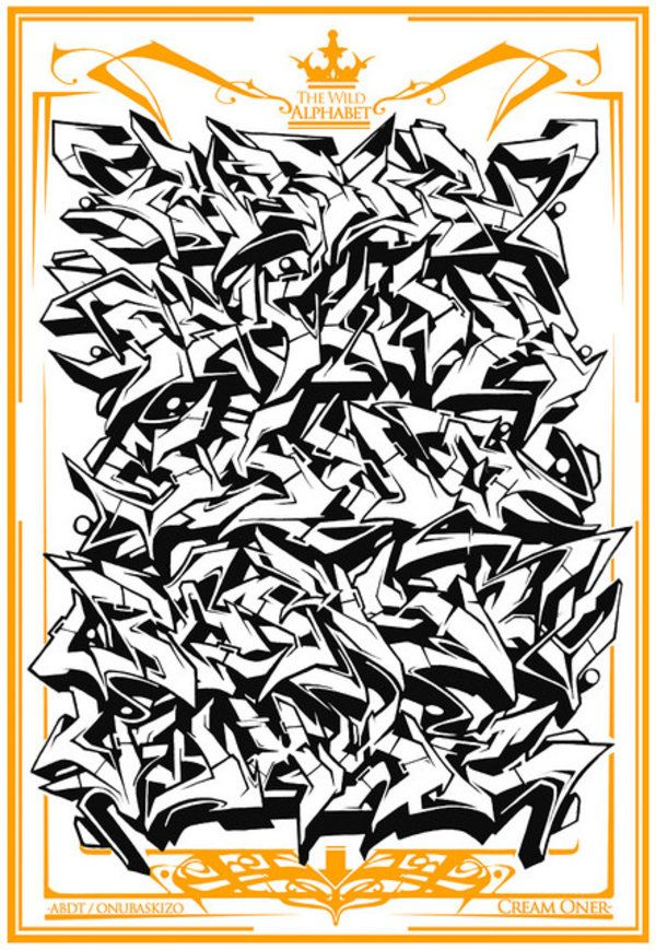 graffiti alphabet -  Like Graffiti then check  http://graff-art-shop.myshopify.com/ #graffiti #graffitiart #graff
