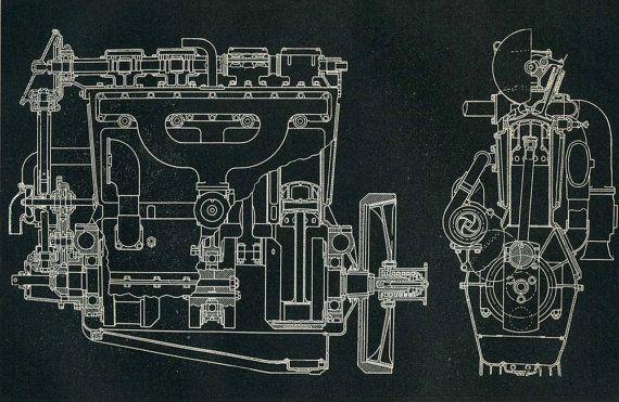 Mechanical Engineering Drawing Frontenac by CarambasVintage, $16.00