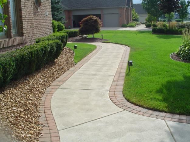 Residential Parkway Landscaping Ideas : Best ideas about brick sidewalk on