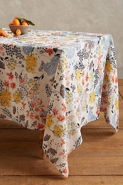 Botanist Knoll Tablecloth #anthropologie