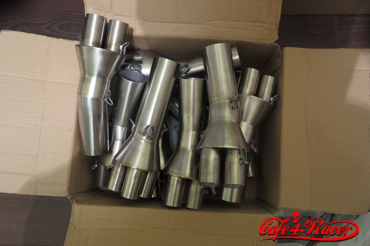 Ready to ship to USA.. collector for BMW K100 4to1 for universal muffler