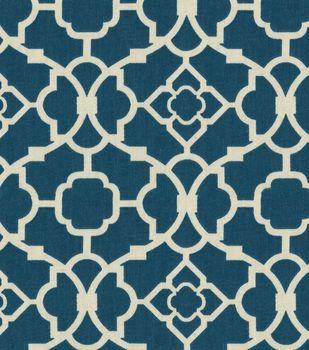 Home Decor 8''x 8'' Fabric Swatch-Lovely Lattice Lapis