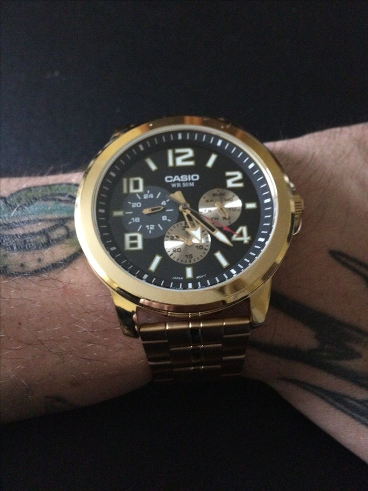 Watch Casio gold zegarek męski