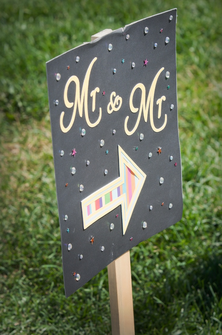 Gay wedding sign ... Wedding ideas for brides & bridesmaids, grooms & groomsmen, parents & planners ... https://itunes.apple.com/us/app/the-gold-wedding-planner/id498112599?ls=1=8 … plus how to organise an entire wedding, without overspending ♥ The Gold Wedding Planner iPhone App ♥