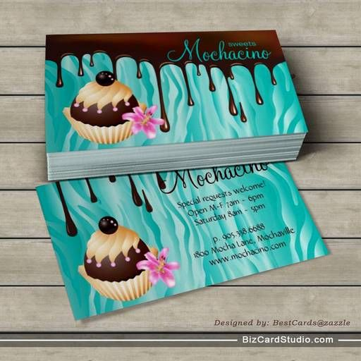 Chocolate Business Card Bakery Cupcake