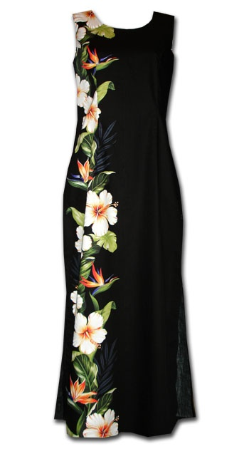 Hibiscus Paradise Black Hawaiian  Dress                                                                                                                                                                                 More