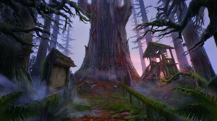 Enigmatis: The Mists of Ravenwood - A Giant Sequoia www.artifexmundi.com/page/enigmatis2 #tree #ravenwood #redwood #park #entrance #game #adventure https://www.facebook.com/ArtifexMundi.Enigmatis