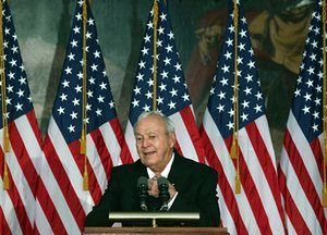 12 September 2012. Palmer speaks after receiving the Congressional Gold Medal during a ceremony in Washington, DC. Palmer was recognized for his contributions to golf and historic contributions to the nation.
