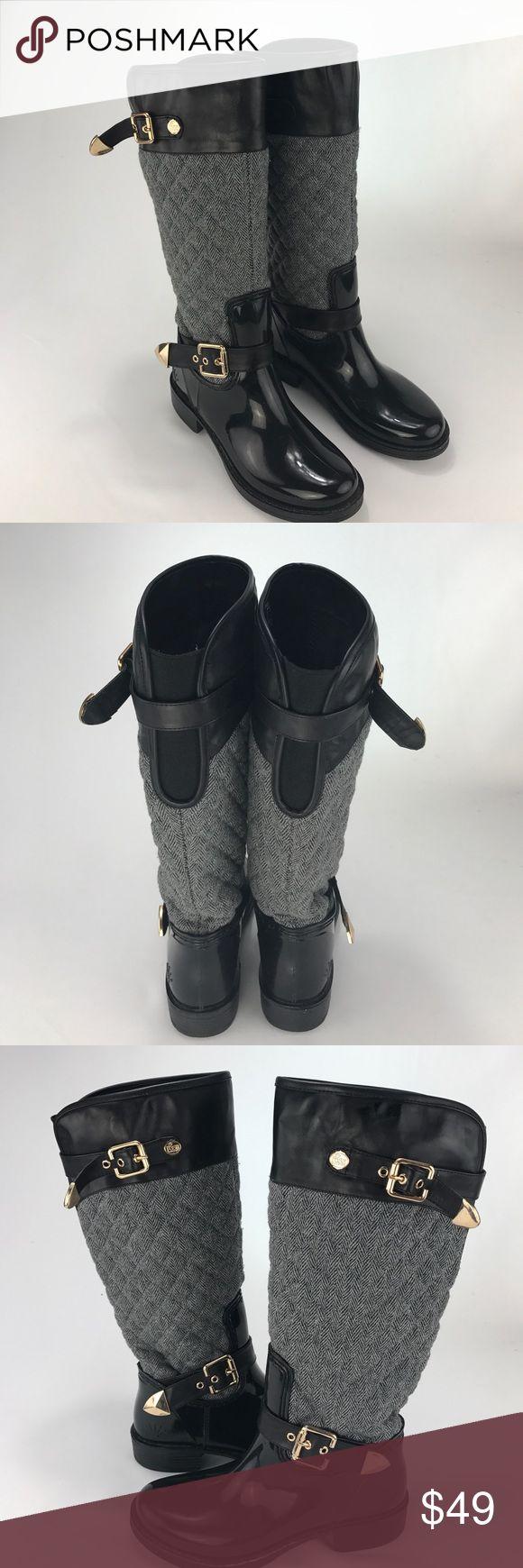 POSH quilted Wellies! Posh quilted wellies! Gold buckles Posh Shoes Winter & Rain Boots