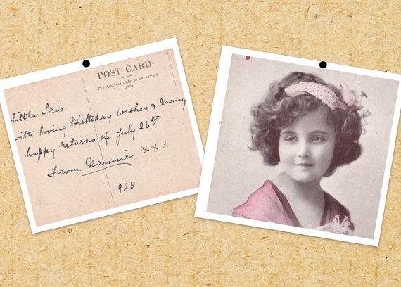 Vintage Postcard 1925 Birthday Card by BewareTheOg on Etsy, £2.90