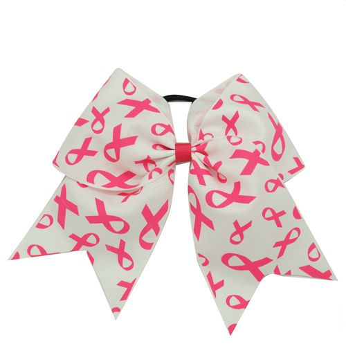 Breast Cancer Awareness Hair Bow---Chengna Hair Accessories