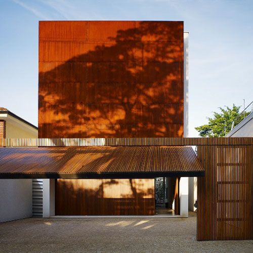 stlSao Paulo, Brazil, Garages Doors, House Design, Marcio Kogan, Bathroom Ideas, Architecture, Wooden Doors, Corten House