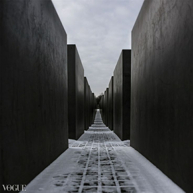 Holocaust monument in Berlin. Published on Italian PhotoVogue.