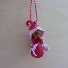 Collier rose,collier petite fille métisse rose,collier fimo