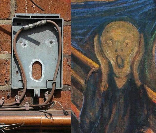Edvard Munch street art.Via Flickr.
