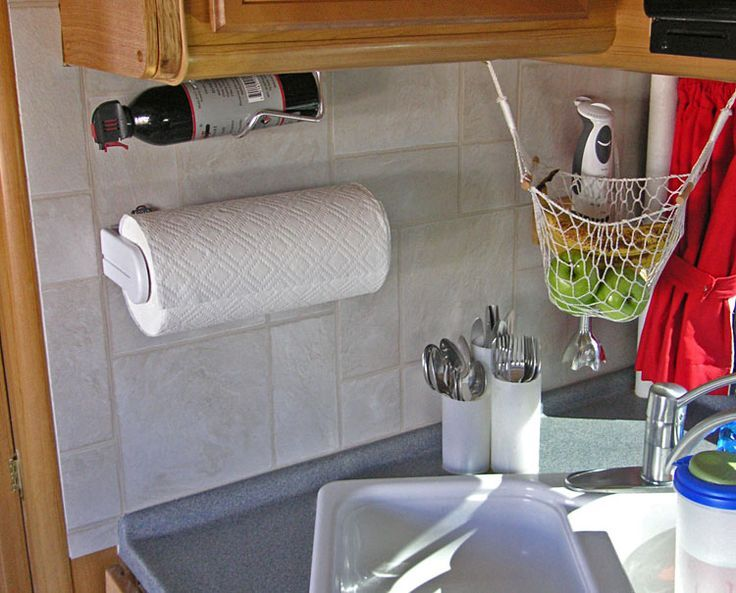 47 best images about caravan and rv helpfull tips for Caravan kitchen storage ideas