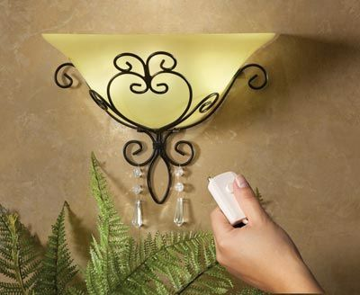 Wireless Sconce And Remote