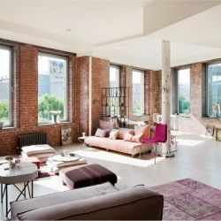 This Historic Chelsea, New York Loft Was A Former Candy Factory. New York  ApartmentsStudio ApartmentsBrick ...