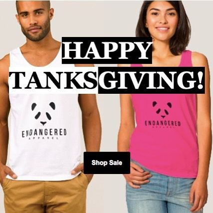 Happy TANKSgiving everyone! New Site & New Products on sale now 🐼🐘
