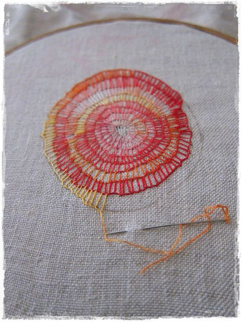 """""""mantra"""" embroidery in progress by Costnaza (peregrine blue)  