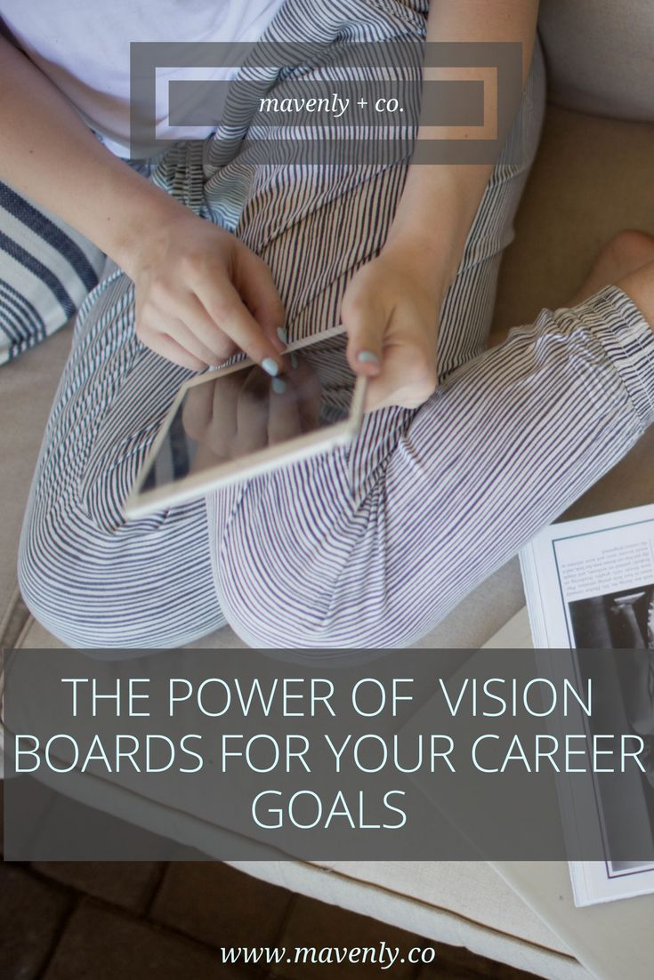THE POWER OF  VISION BOARDS FOR YOUR CAREER GOALS