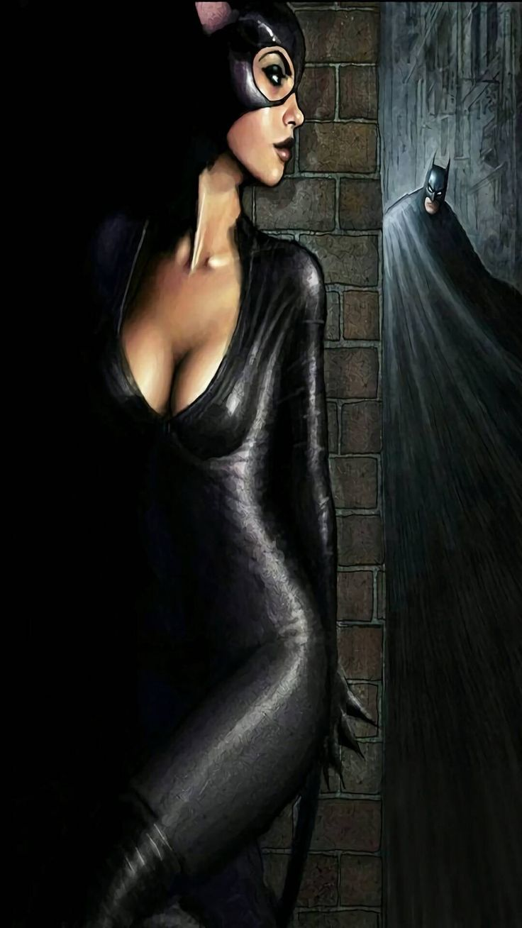 Cat women and batman   Catwoman, Batman and catwoman, Comics girls