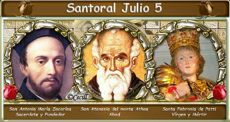 Vidas Santas: Santoral Julio 5