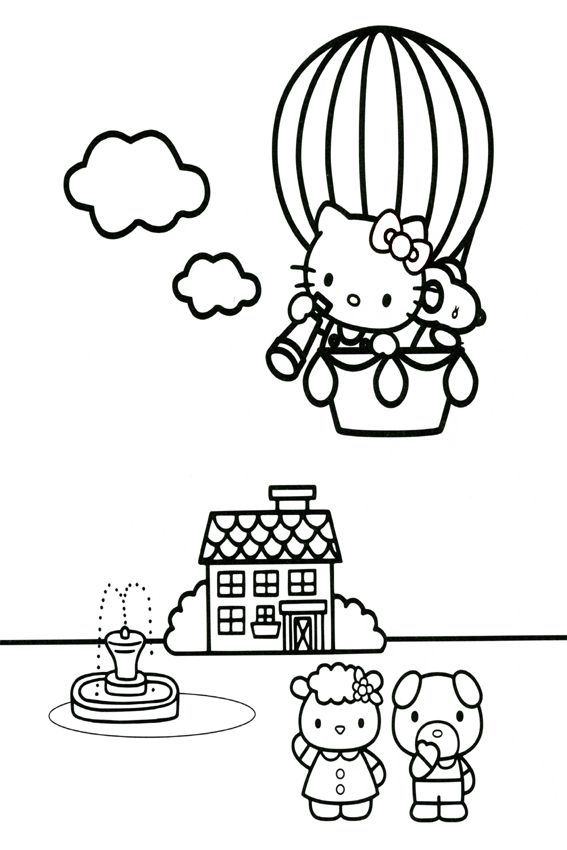 hello kitty coloring pages 4u - photo#15