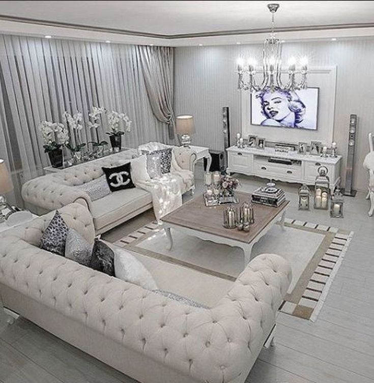 35 Nice Luxury White Living Room Decoration Ideas In 2020