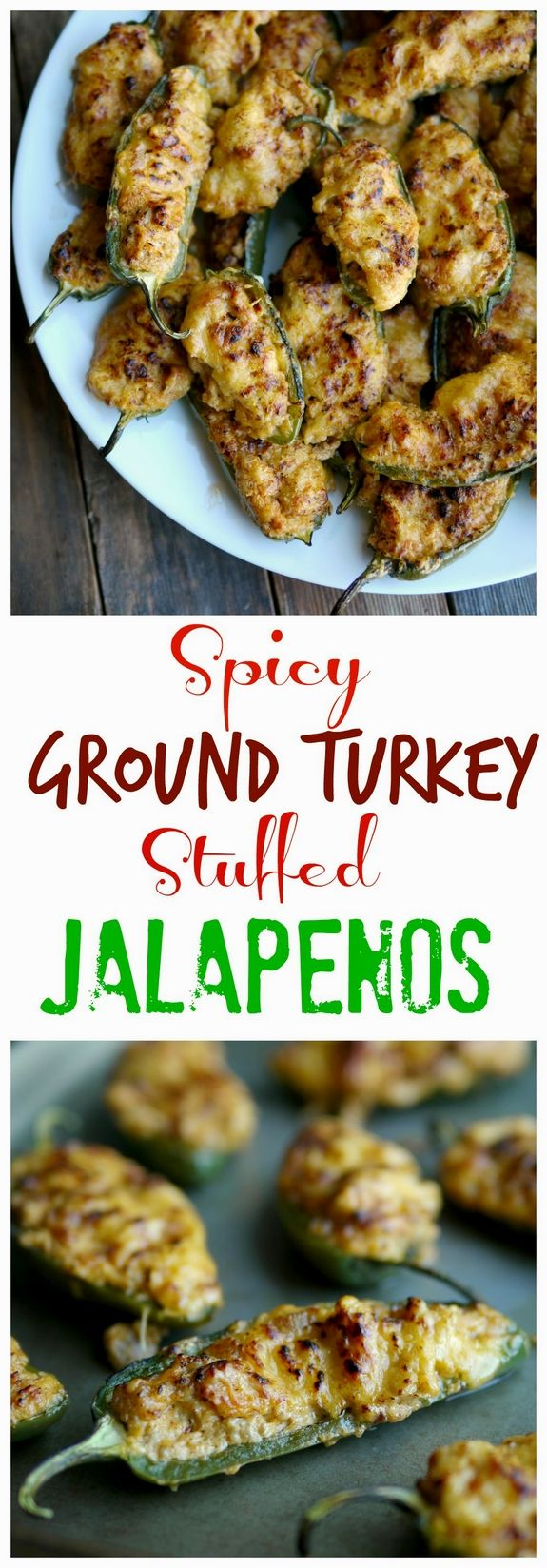 Enjoy all of the flavor of stuffed jalapenos in this healthier version of a game day favorite. TasteOrganicTurkey Turkey Tuesday from NoblePig.com  AD @FosterFarms