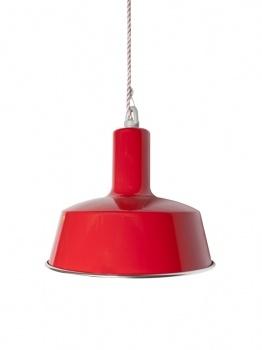 Stoere rode hanglamp voor keuken of slaapkamer, Stoerelampen.nl