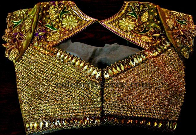 Zardosi Kundan Latest Designer Blouses | Saree Blouse Patterns