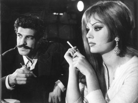 From Movie Vesikalı Yarim / 1968 Türkan Şoray and Izzet Gunay