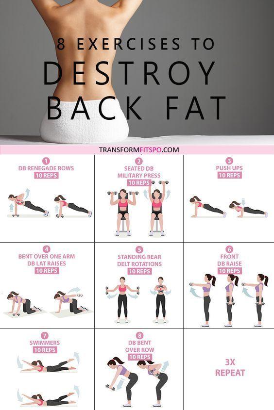 8 Übungen zur Beseitigung von Fett im unteren Rückenbereich für Frauen