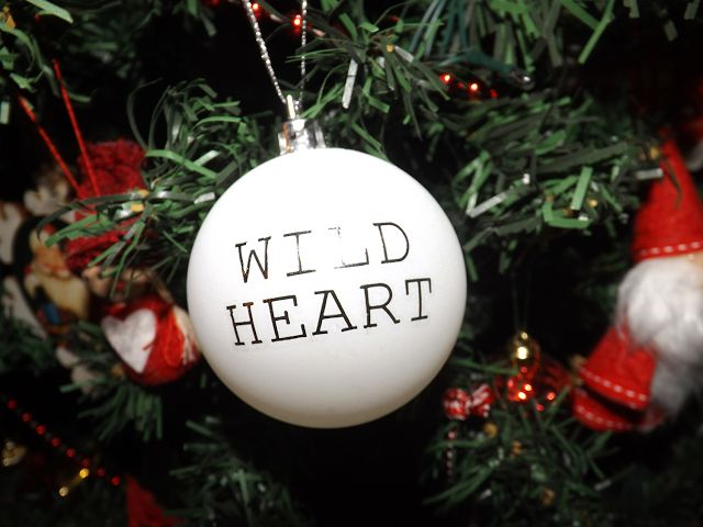 Christmas Baubles using Temporary Tattoos
