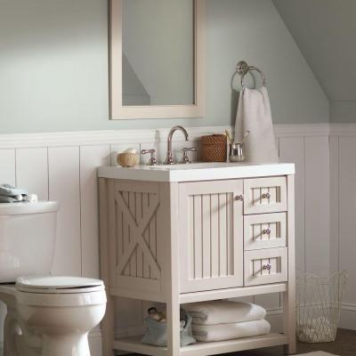 Martha Stewart Living Seal Harbor 23 In Medicine Cabinet In Sharkey Gray Bathroom Reno