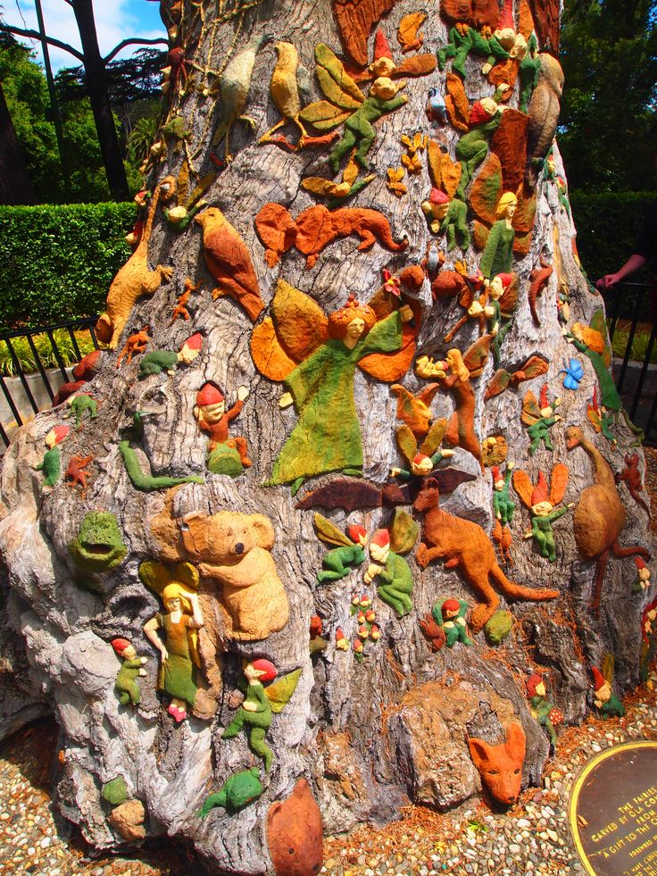 The fairies tree is carved by ola cohn and dedicated to