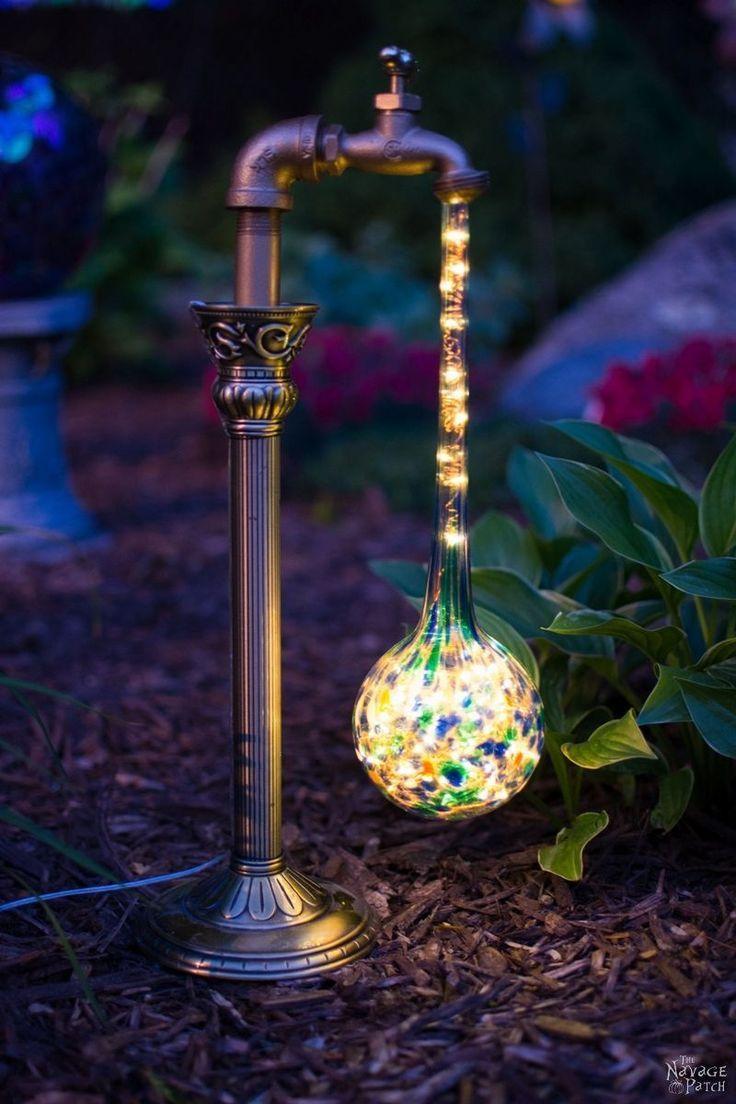 1063 best images about diy on pinterest diy wine bottle for Diy solar wine bottle lights