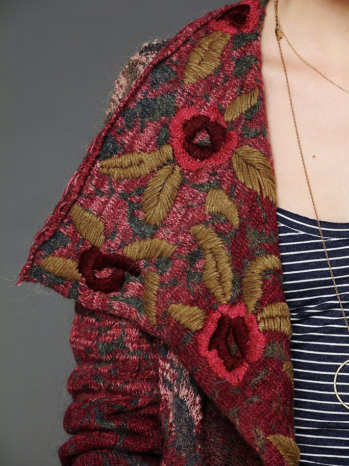 embroidered coat