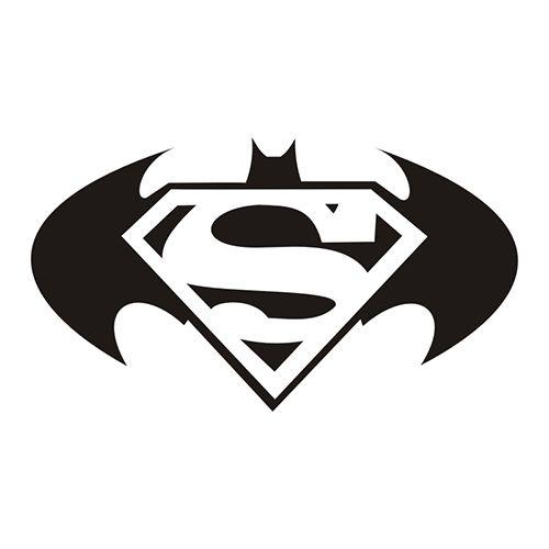 Batman superman die cut vinyl decal pv451